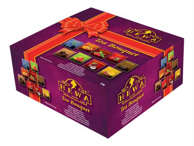 HEWA Schwarzer Tee mit verschiedenen Fruchtnoten 100 Beutel 200g