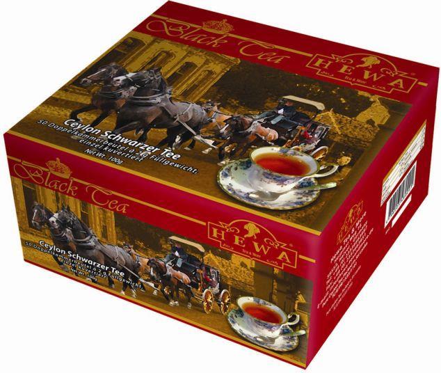HEWA Ceylon Schwarzer Tee 100 Teebeutel 200g