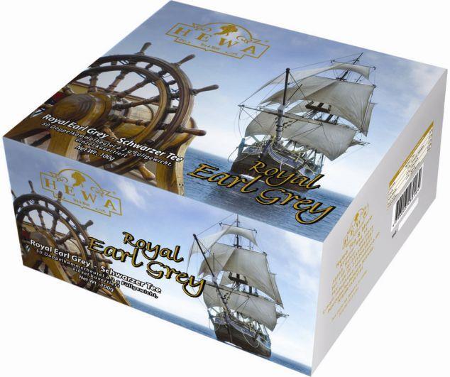 HEWA Schwarzer Tee Royal Earl Grey 100 Teebeutel
